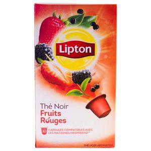 کپسول چای لیپتون مدل Fruits Rouges