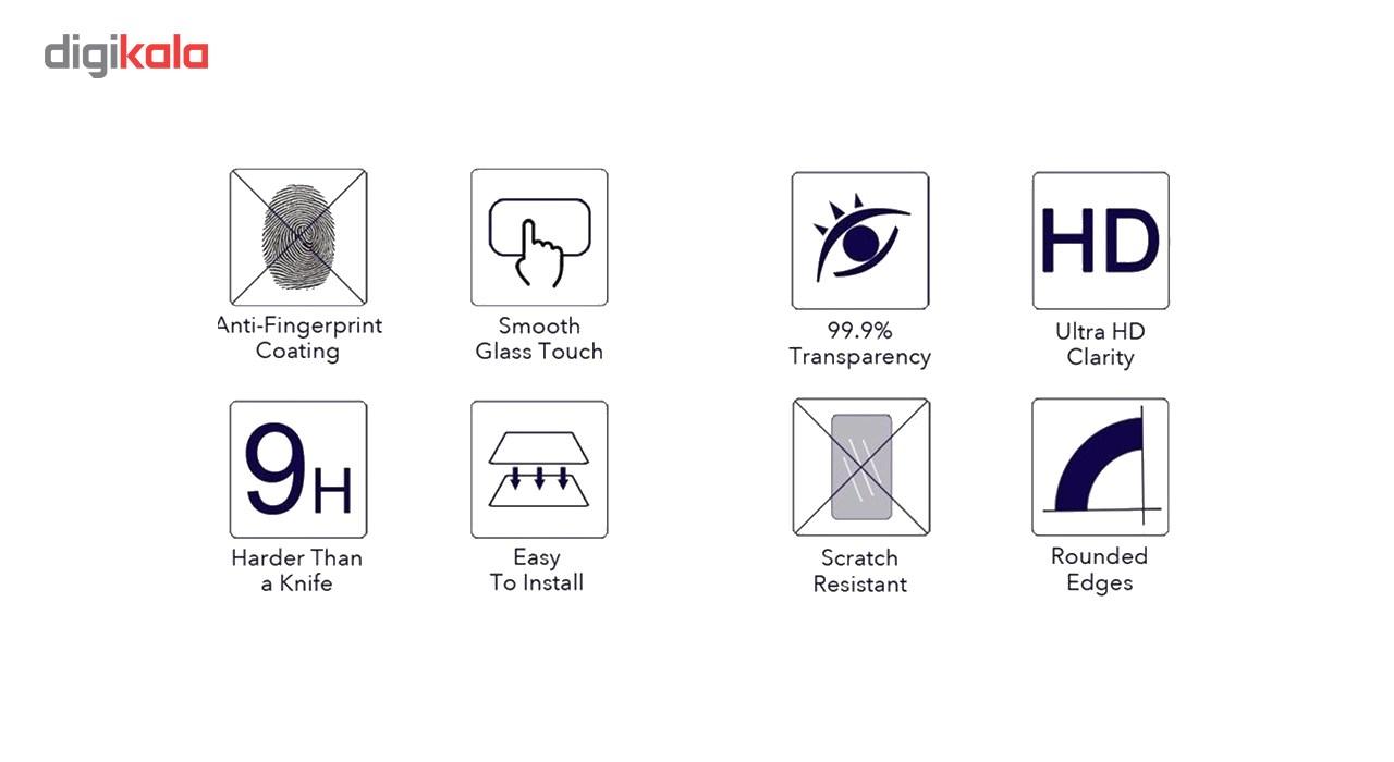 محافظ صفحه نمایش شیشه ای تمپرد هوکار  مناسب Huawei P10 Lite              ( قیمت و خرید)