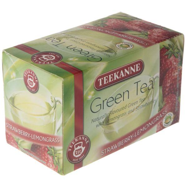 چای سبز کیسه ای تی کانه مدل Strawberry Lemongrass بسته 20 عددی