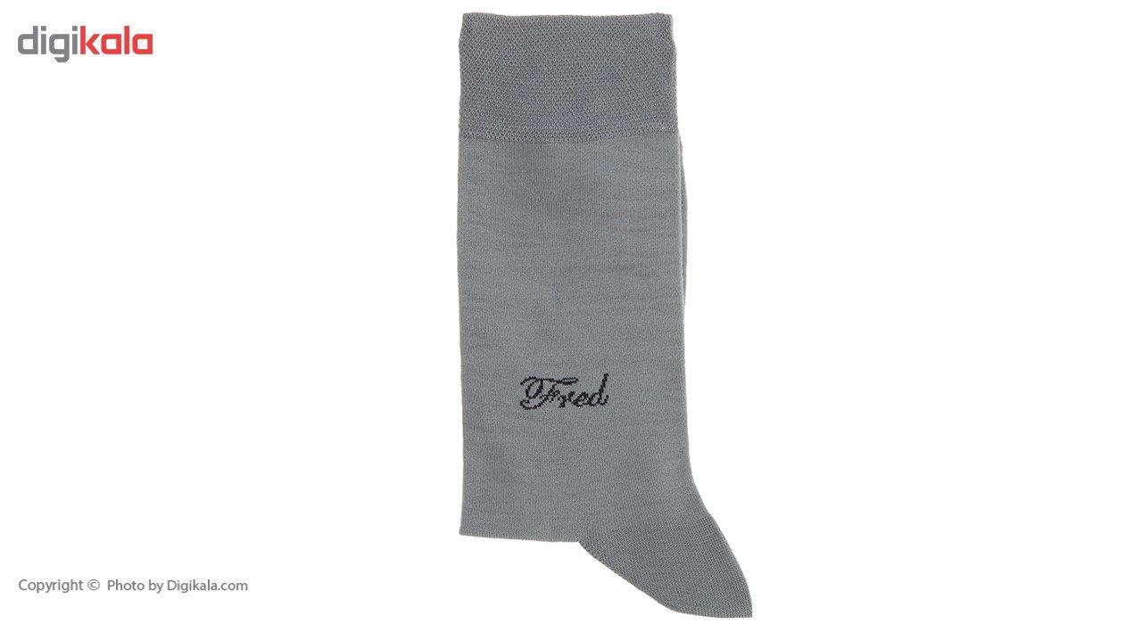 جوراب مردانه Fred مدل Nano Gray main 1 2