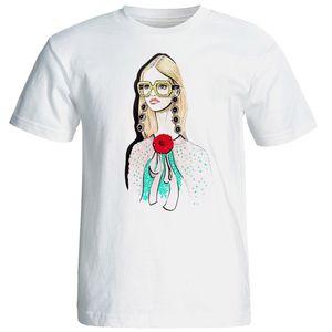 تی شرت آستین کوتاه زنانه شین دیزاین طرح فانتزی کد 4484