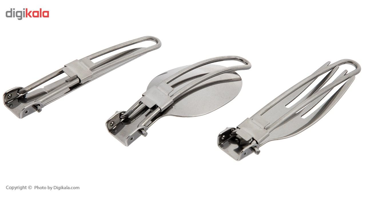 مجموعه قاشق، چنگال و چاقو سفری مدل A5009