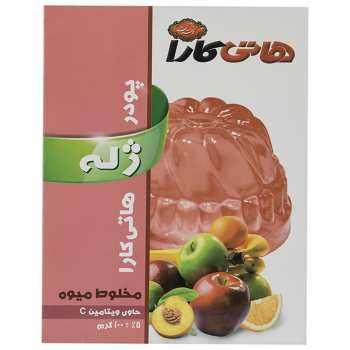 پودر ژله مخلوط میوه هاتی کارا مقدار 100 گرم