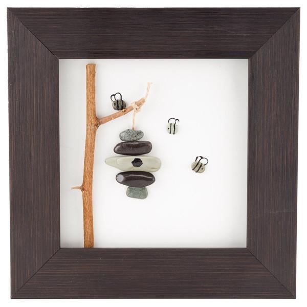 تابلو کلاژ سنگ گالری سی پرشیا طرح کندو کد 201121