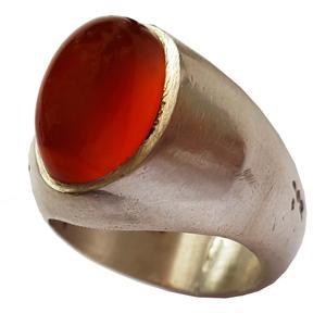 انگشتر نقره جواهرسرا عقیق سرخ یمنی a324jw