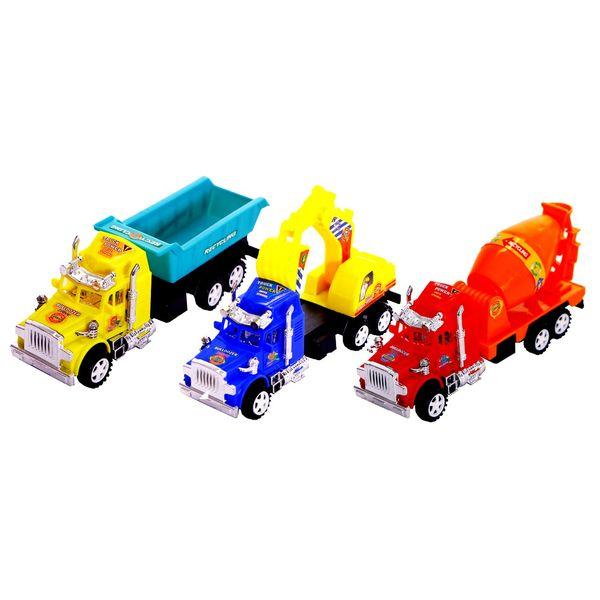 ماشین بازی کامیون مدل Construction truck بسته ی 3 عددی