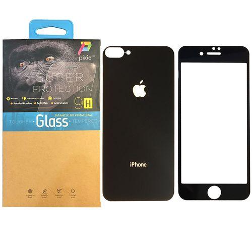 محافظ صفحه نمایش و پشت گوشی شیشه ای پیکسی مدل Mirror Electroplate مناسب برای گوشی اپل آیفون 8  پلاس