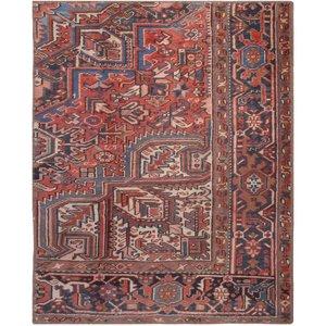 فرش قدیمی یک و نیم متری فرش هریس کد 100747