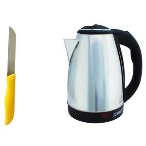 کتری برقی اسکارلت مدل 300 به همراه چاقو آشپزخانه