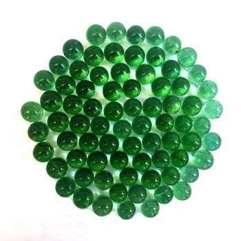 تیله شیشه ای گلدونه مدل سبز بسته 100 عددی