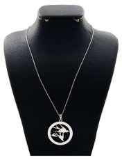 گردنبند نقره زنانه دلی جم طرح پرستو کد D 72 -  - 1