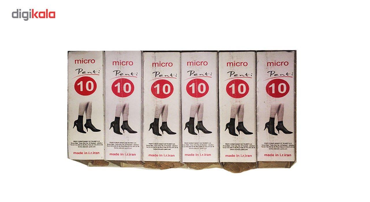 جوراب زنانه شیشه ای پنتی مدل 109 بسته 6جفتی main 1 2
