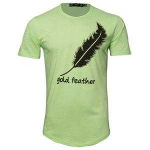 تی شرت مردانه طرح پر مدل گلدفیدر کد SAB