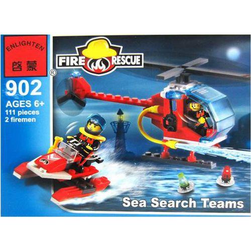 لگو آتش نشانی انلایتن مدل 902 تعداد 111 قطعه