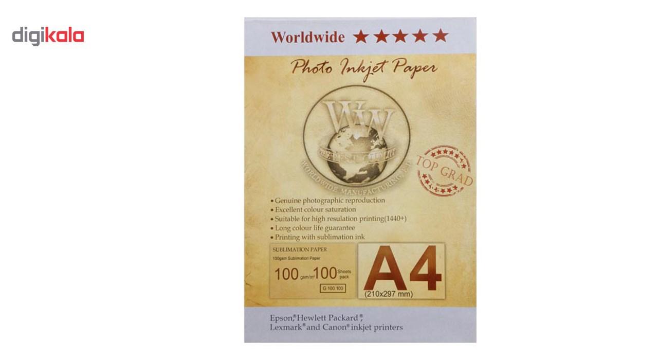 قیمت                      کاغذ ورلدواید مدل Sublimation  سایز A4 بسته 100 عددی