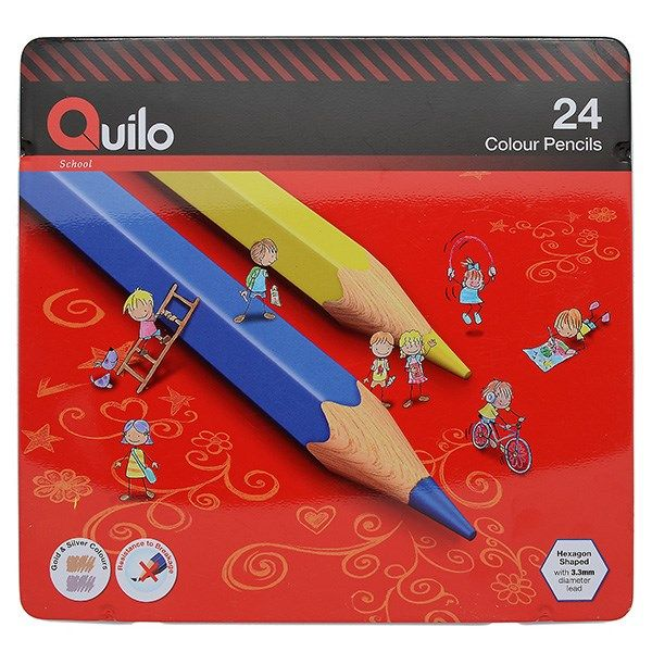 مداد رنگی 24 رنگ کوییلو کد 634007
