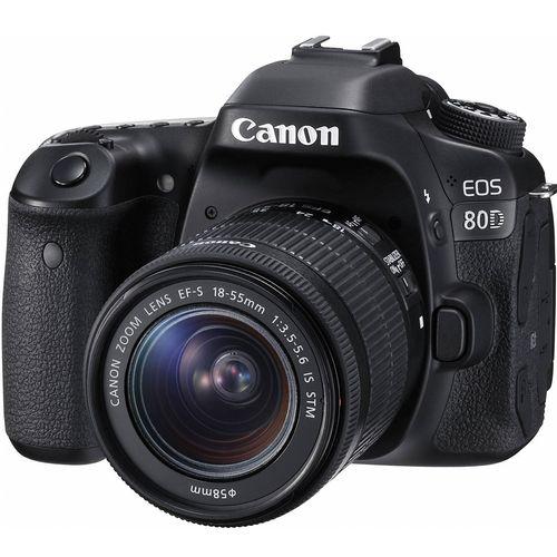 دوربین دیجیتال کانن مدل Eos 80D به همراه لنز EF-S 18-55mm f/3.5-5.6 IS STM