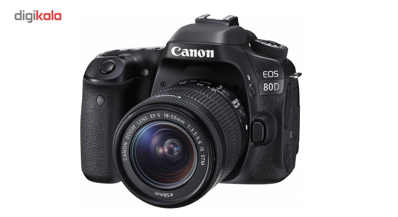 دوربین دیجیتال کانن مدل Eos 80D به همراه لنز EF-S 18-55mm f/3.5-5.6 IS STM main 1 1