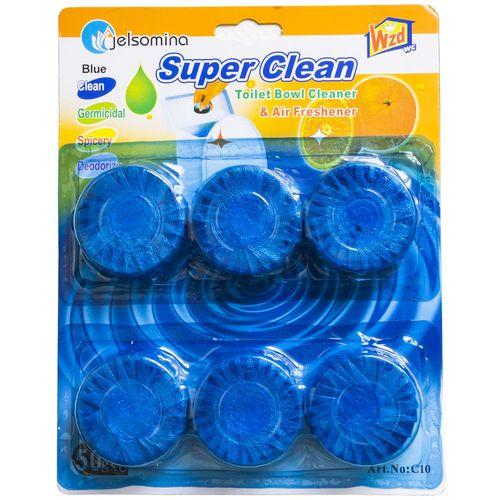 قرص جرم گیر توالت فرنگی مدل Super Clean بسته 6 عددی