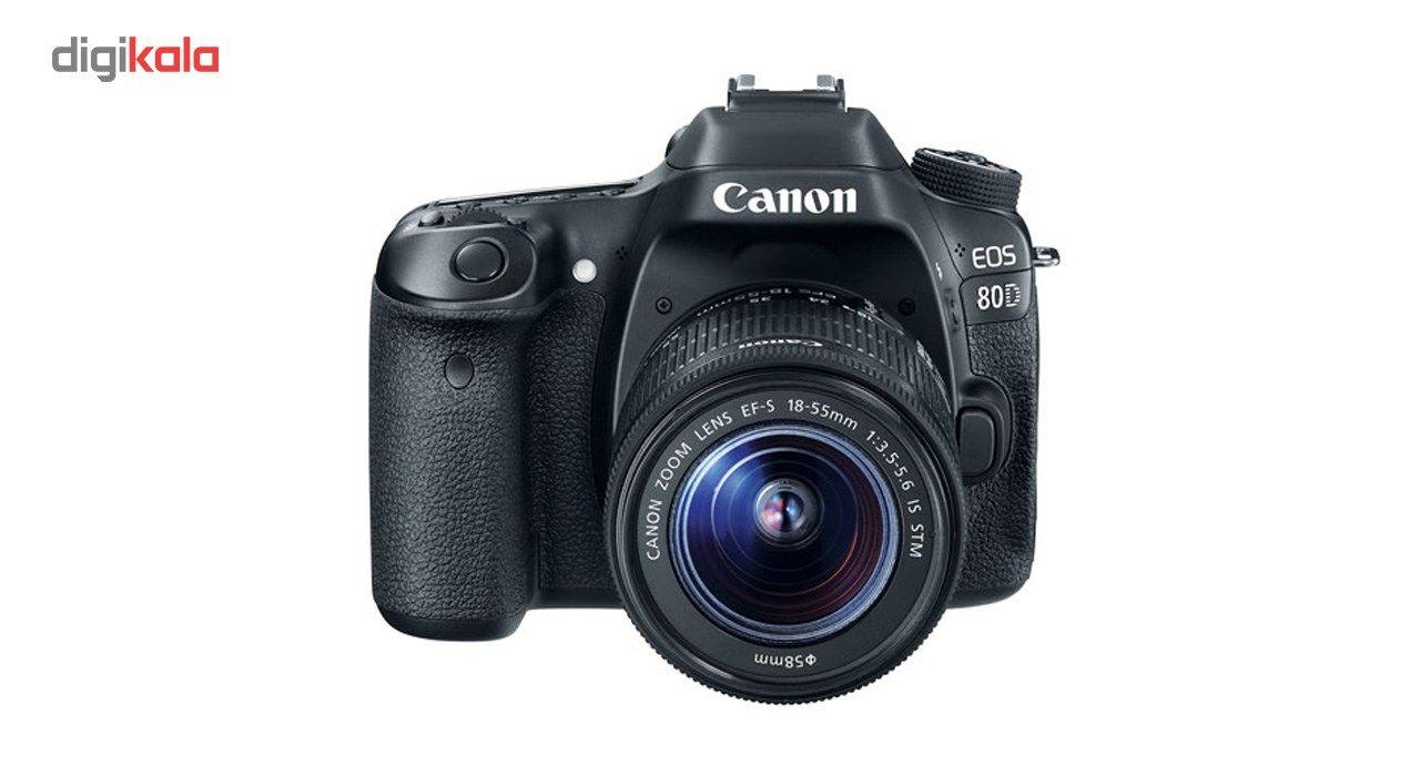 دوربین دیجیتال کانن مدل Eos 80D به همراه لنز EF-S 18-55mm f/3.5-5.6 IS STM main 1 2