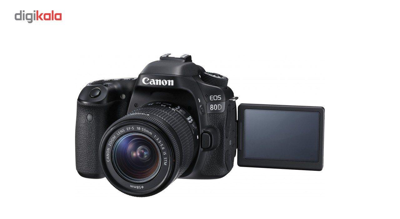 دوربین دیجیتال کانن مدل Eos 80D به همراه لنز EF-S 18-55mm f/3.5-5.6 IS STM main 1 5