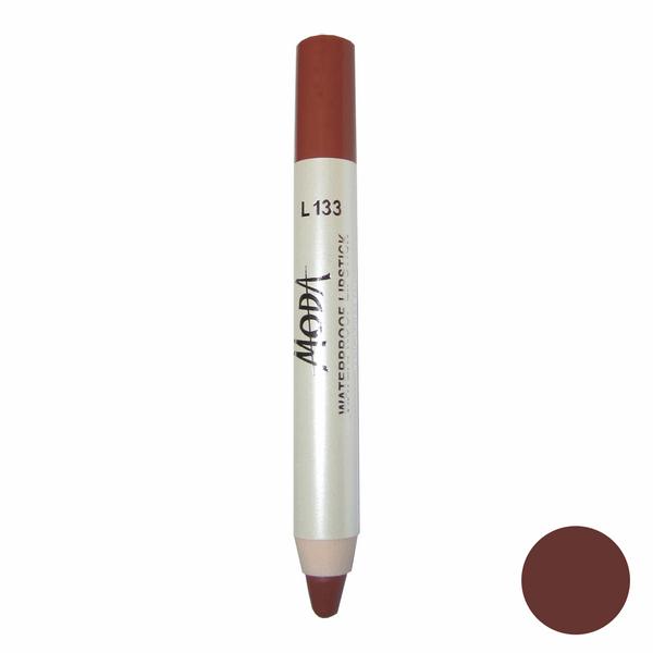 رژلب مدادی مودا مدل waterproof lipstick شماره L133