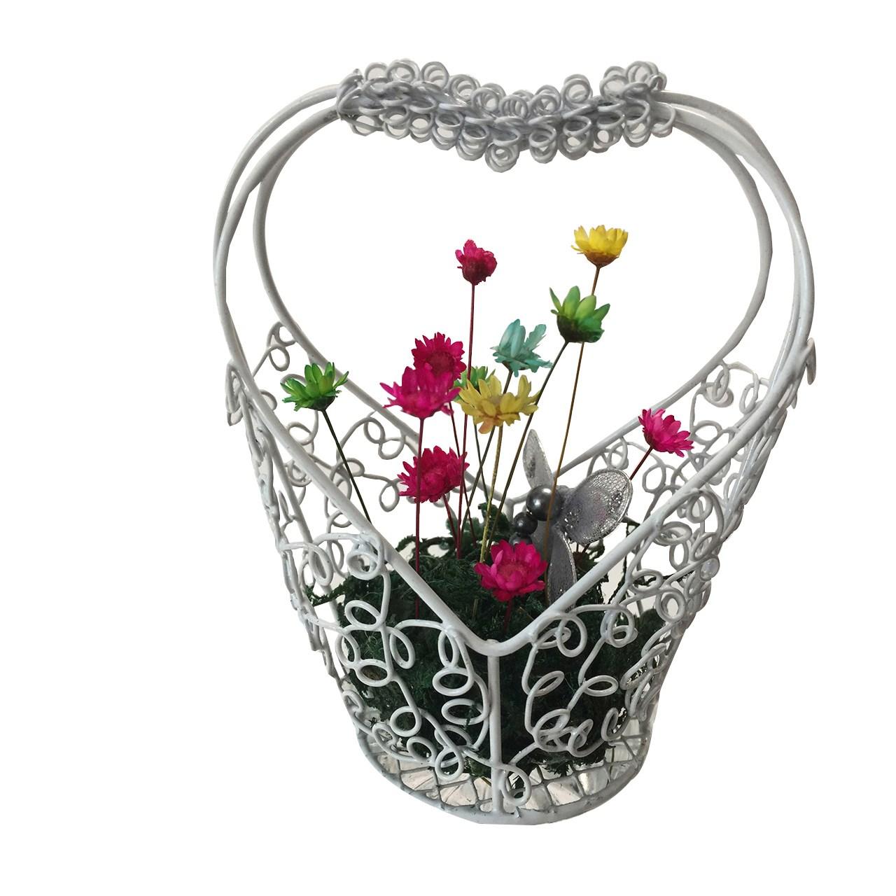 گل قهر و آشتی عرش مدل B-106  همراه با گلدان