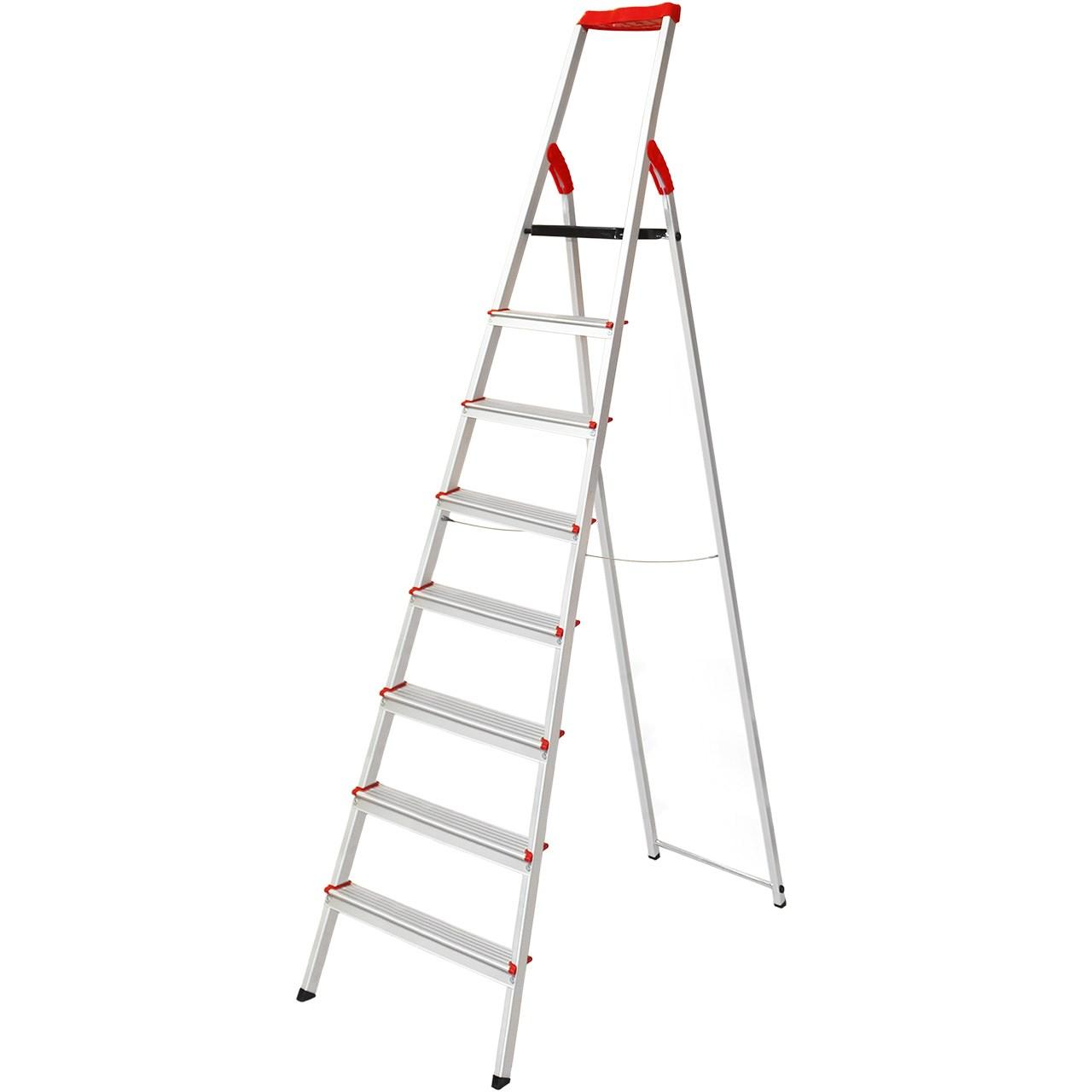 نردبان 8 پله فولاد بهمن مدل FB8s