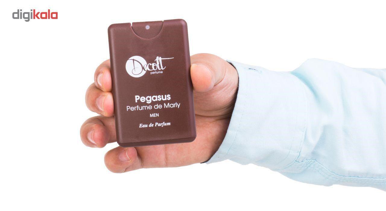 عطر جیبی مردانه دکلت رایحه Pegasus perfume De Marly حجم 20 میلی لیتر -  - 5