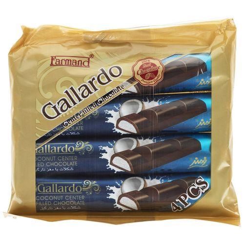 شکلات تلخ با مغز نارگیل فرمند مقدار 100 گرم