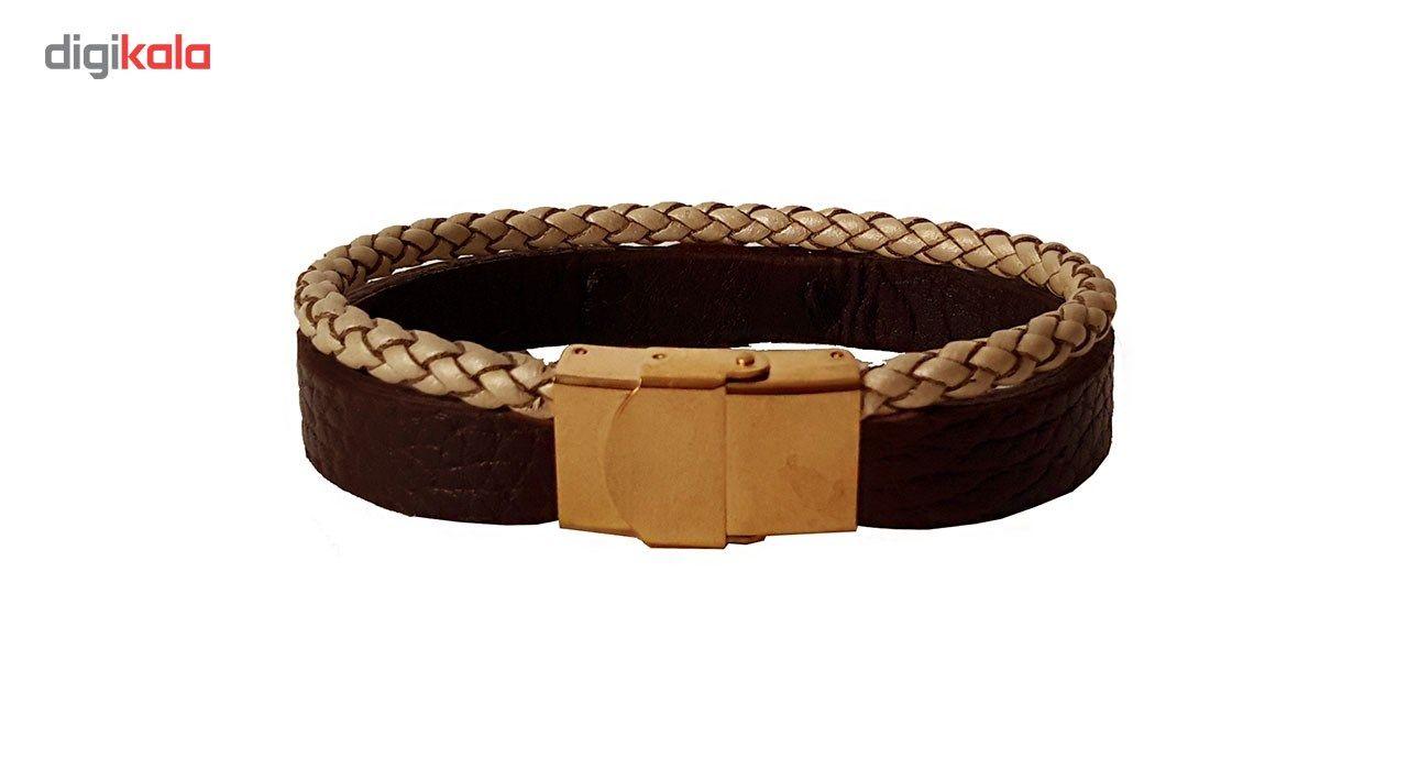 دستبند چرمی  مانی چرم مدل BL-158 سایز L -  - 4
