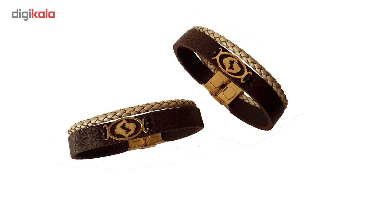 دستبند چرمی  مانی چرم مدل BL-158 سایز L -  - 3