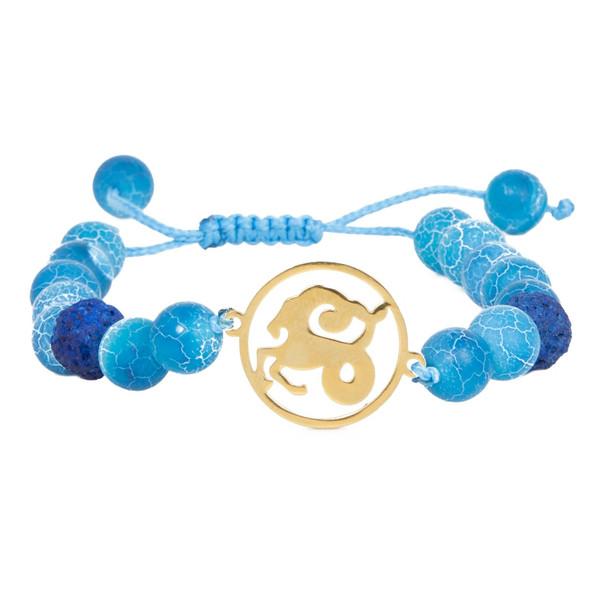دستبند نوژین مدل دی آبی