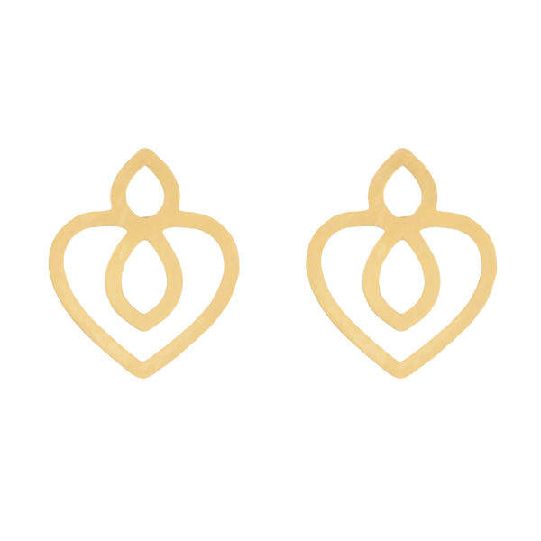 گوشواره طلا 18 عیار زنانه کانیار گالری کد GOA97