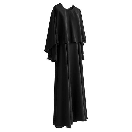 مانتو زنانه شنل دار حجاب فاطمی مدل Dakhash