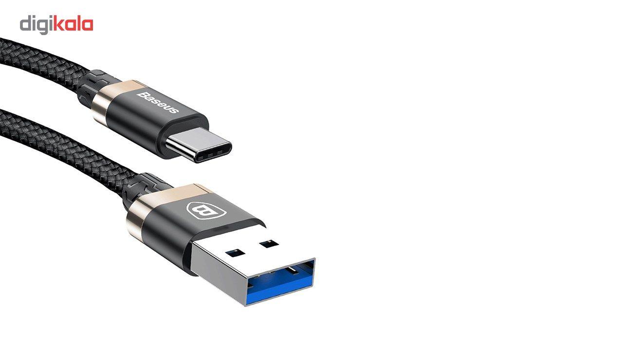 کابل تبدیل USB به USB Type-c باسئوس مدل Golden Belt به طول 1 متر  Baseus Golden Belt USB to USB Ty