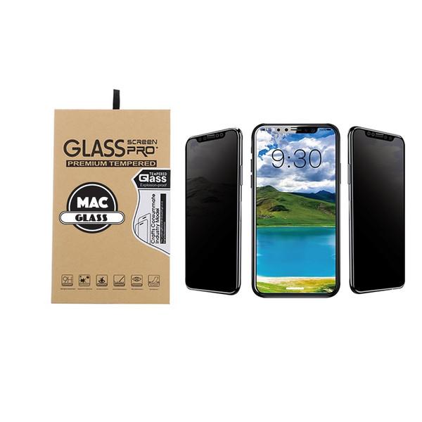 محافظ صفحه نمایش شیشه ای مک گلس مدل 3D Privacy مناسب برای گوشی آیفون X