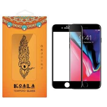 محافظ صفحه نمایش شیشه ای کوالا مدل Full Cover مناسب برای گوشی موبایل اپل آیفون 8 Plus