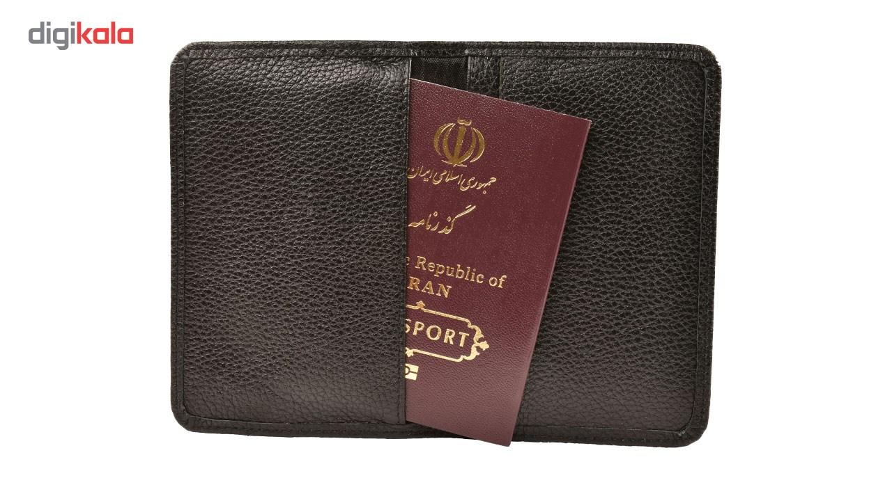 کیف پاسپورت و  مدارک کهن چرم مدل PS33