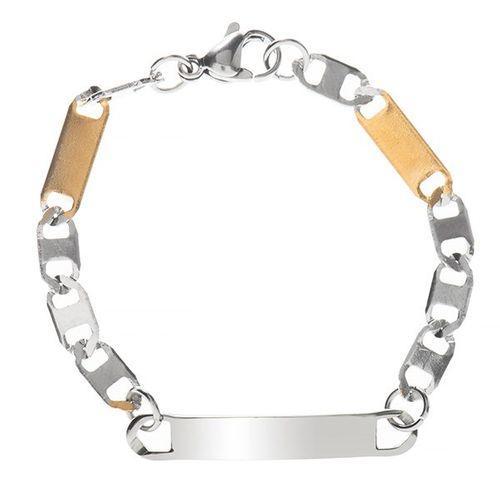دستبند زنجیری پلاک دار جی دبلیو ال مدل BB-453