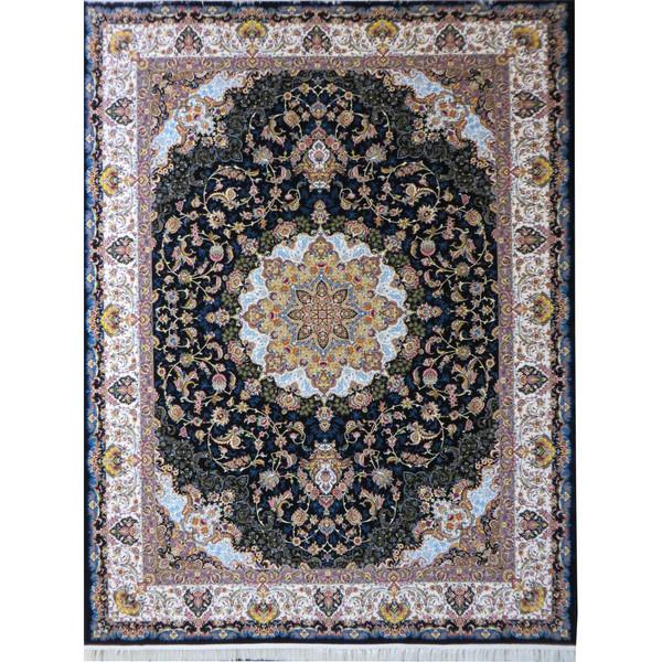 فرش ماشینی پارسه کدFSM106 زمینه سورمه ای