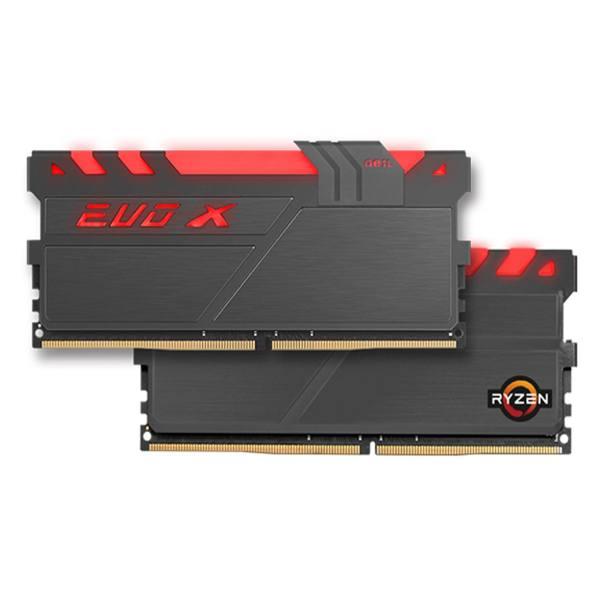 رم دسکتاپ DDR4 دو کاناله 3000 مگاهرتز CL16 گیل مدل Evo X AMD Edition ظرفیت 16 گیگابایت