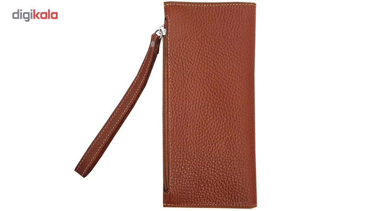 کیف پول و موبایل طرح فلوتر چرم آنیل مدل araz -  - 2