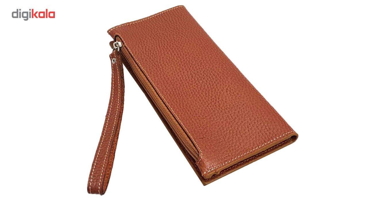 کیف پول و موبایل طرح فلوتر چرم آنیل مدل araz -  - 3