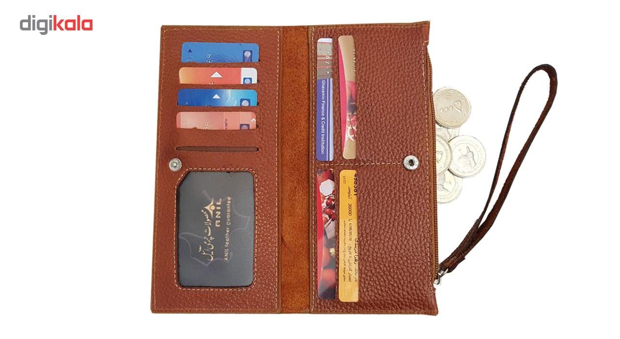 کیف پول و موبایل طرح فلوتر چرم آنیل مدل araz -  - 5