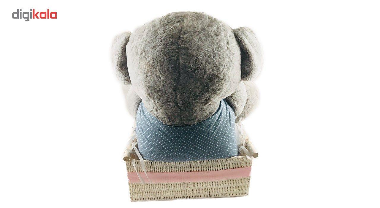 خرید اینترنتی با تخفیف ویژه عروسک کادوتل مدل خرس ارتفاع 65 سانتیمتر