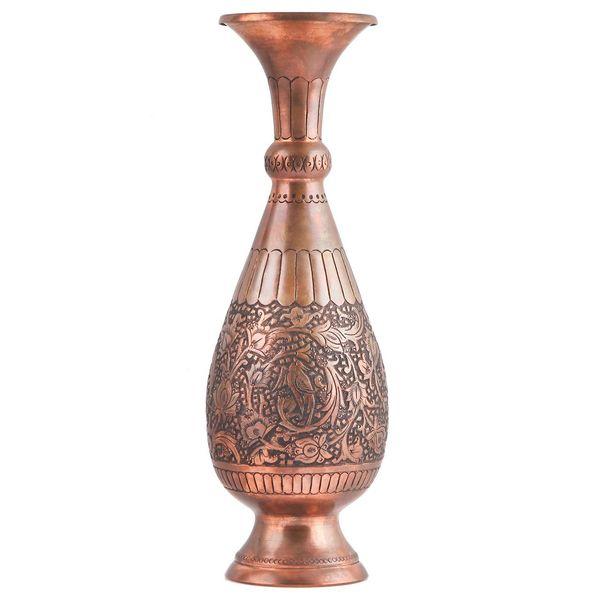 گلدان قلم زنی گالری مثالین طرح گل و مرغ کد 149031