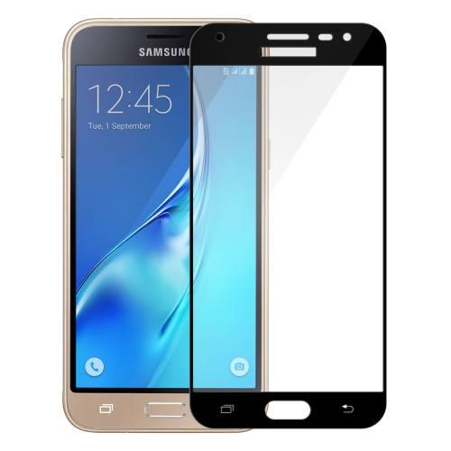محافظ صفحه نمایش تمپرد مدل فول چسب مناسب برای گوشی موبایل سامسونگ Galaxy J3 Pro