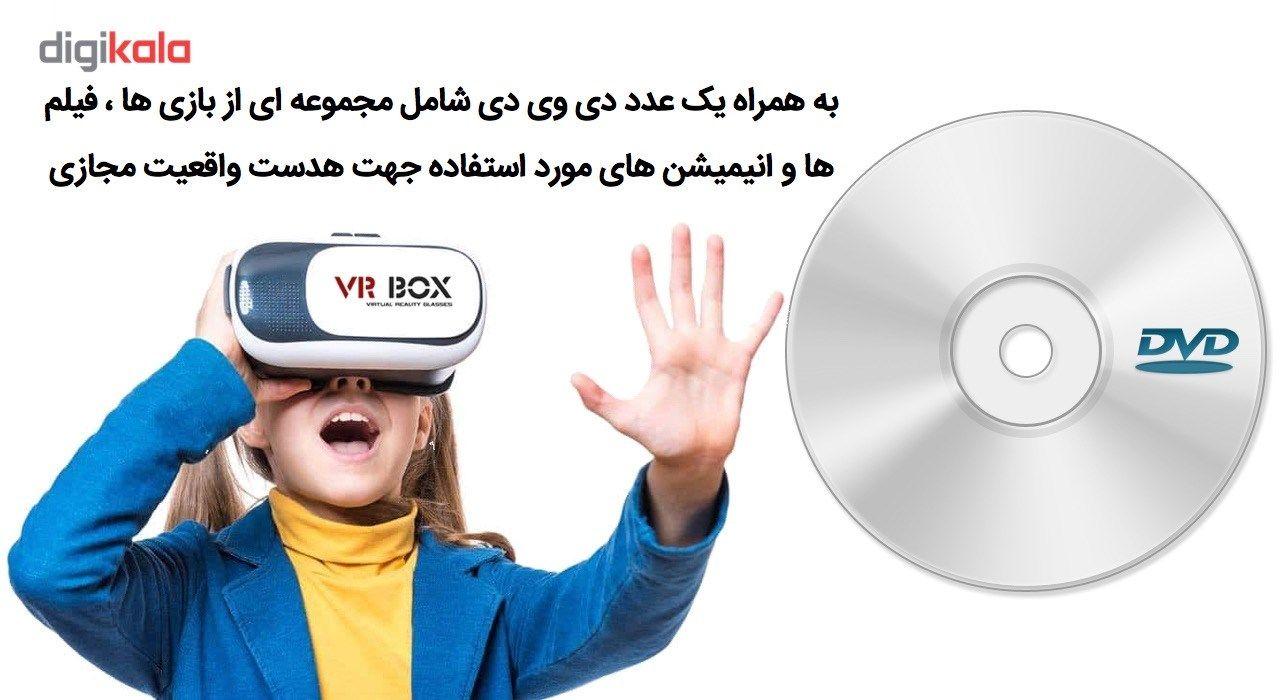 هدست واقعیت مجازی وی آر باکس مدل VR Box 2 به همراه ریموت کنترل بلوتوث و DVD  حاوی اپلیکیشن و باتری main 1 2