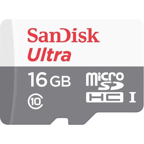 کارت حافظه microSDHC سن دیسک مدل Ultra کلاس 10 استاندارد UHS-I U1 سرعت 80MBps 533X ظرفیت 16 گیگابایت